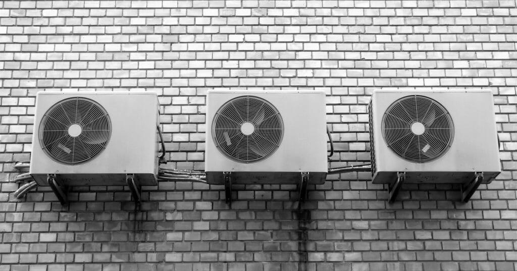 Industrie Klimaanlage 3 Splitgeräte nebeneinander
