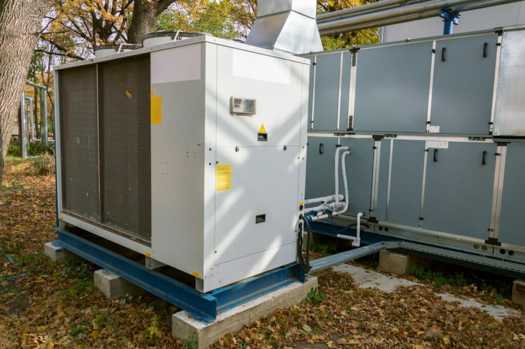 Mietkälte Kaltwassersatz Anlage im Einsatz