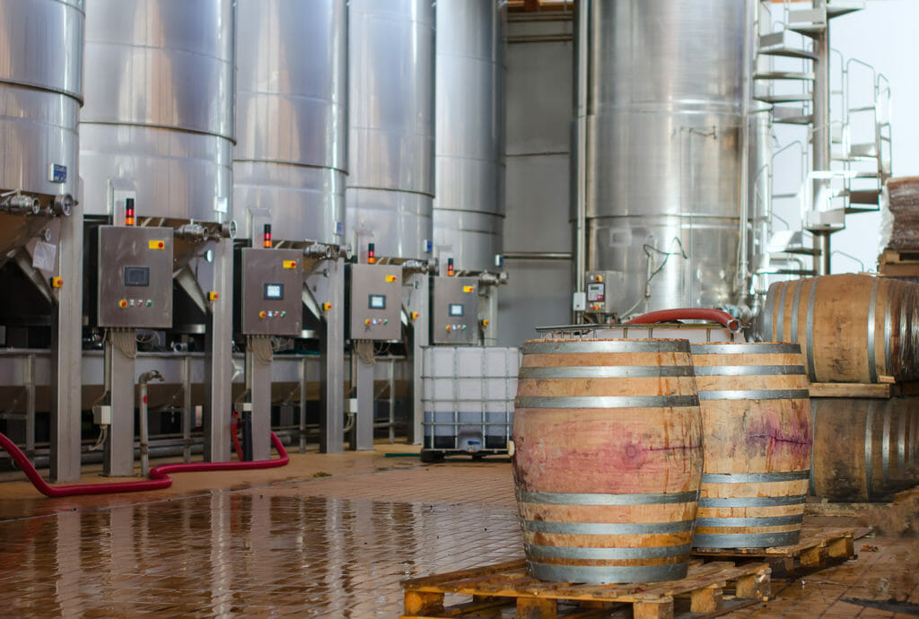 Weinproduktion