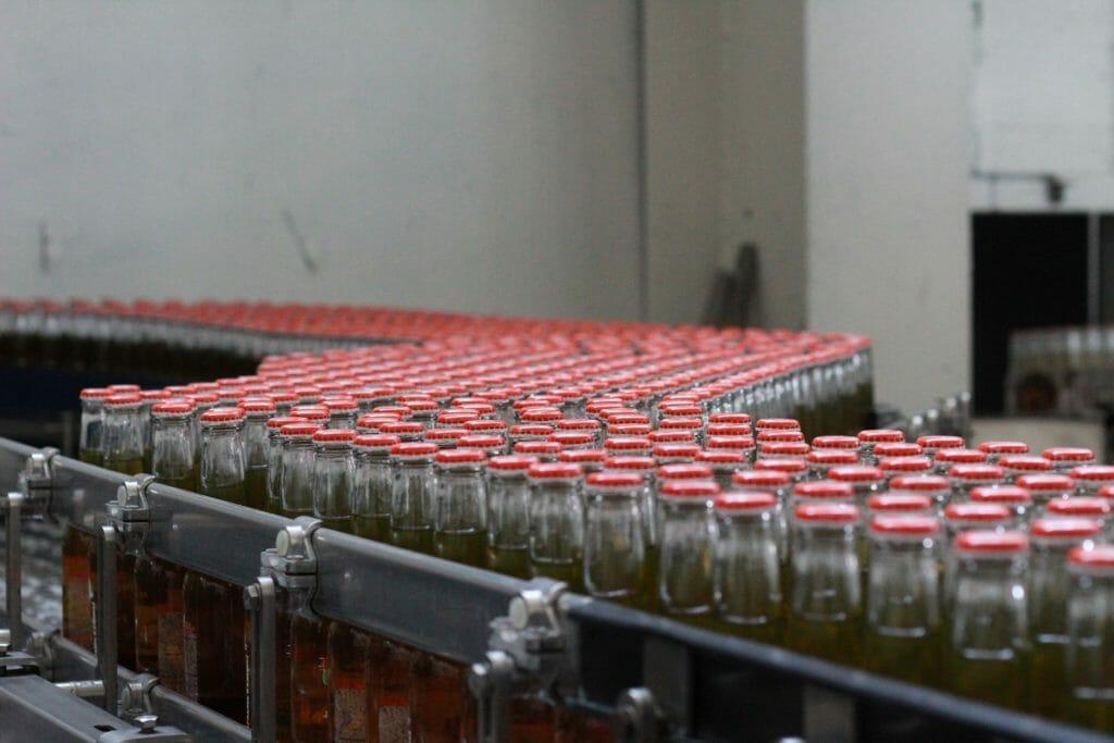 Dampfanlage in der Getränkeproduktion
