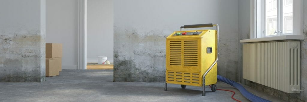 Gelber bautrockner zum Putz trocknen