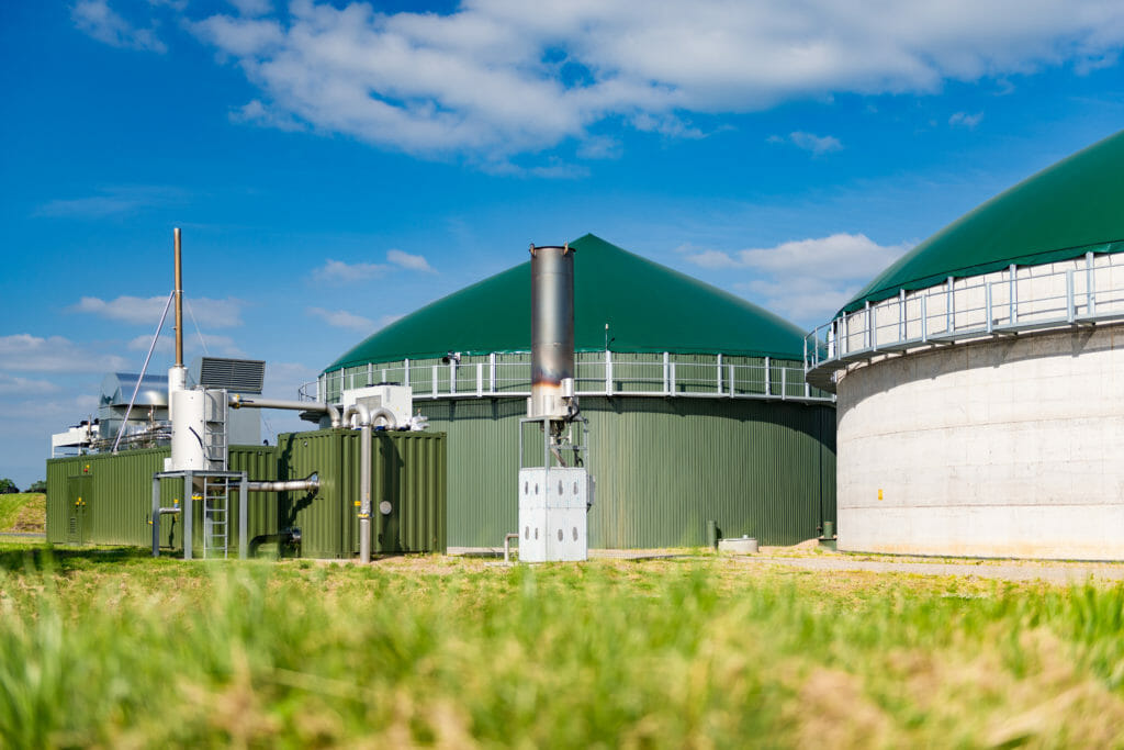 Biogastrocknung