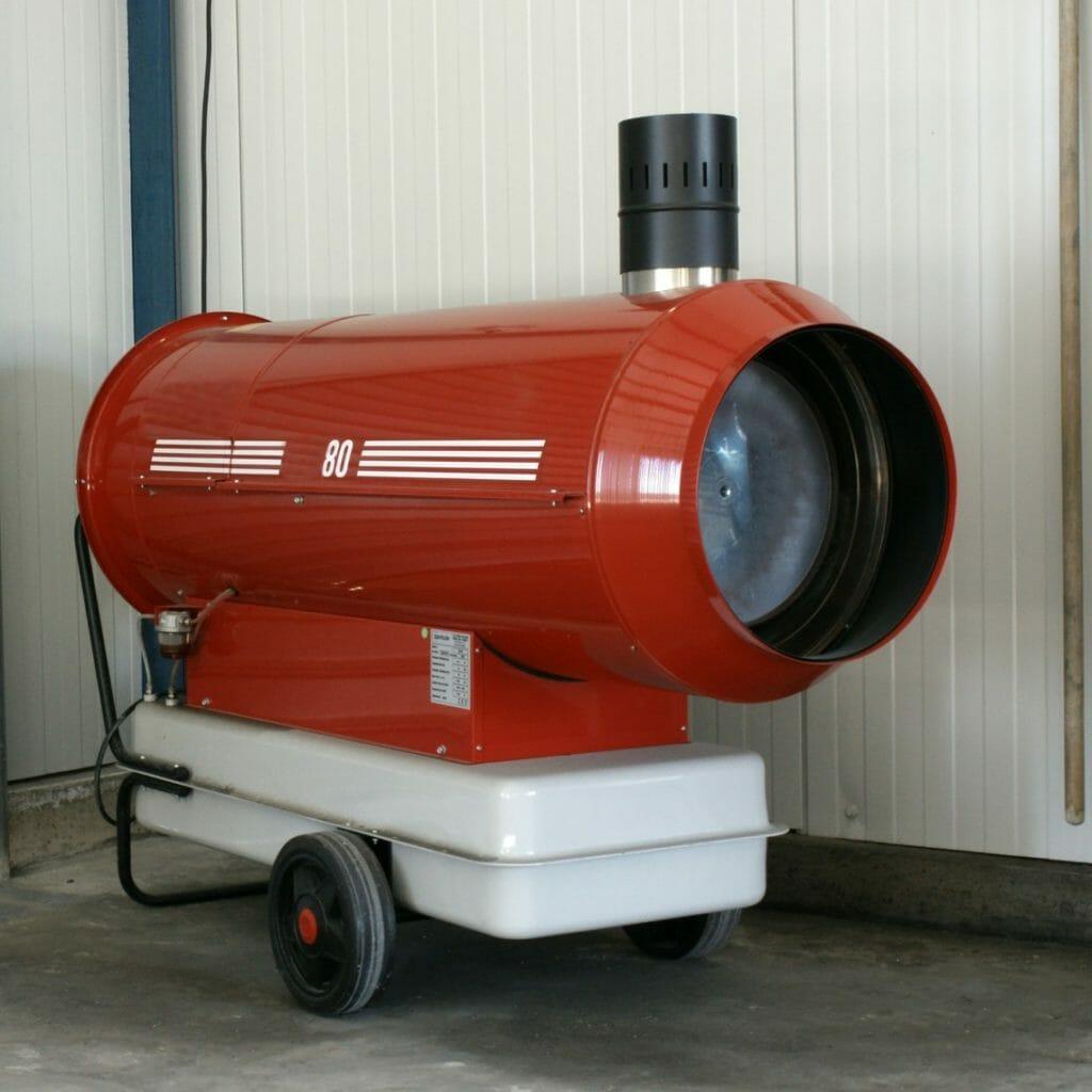 Kleine Warmlufterzeuger Gas