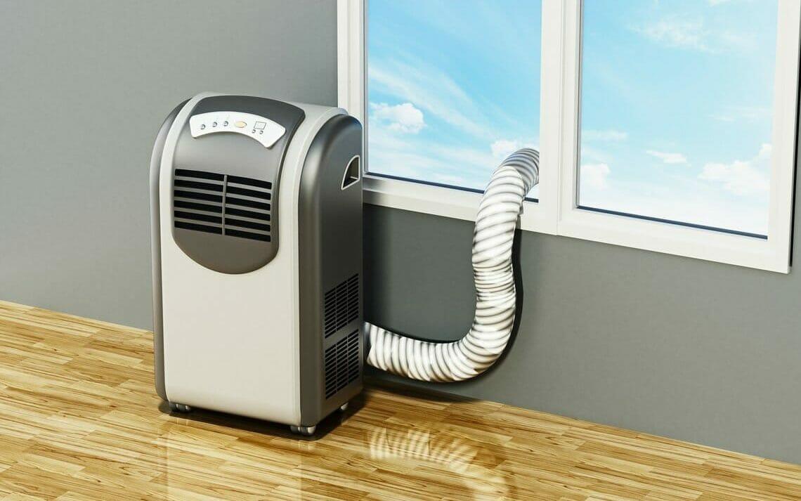Mobile Klimaanlage Schlauch Fenster