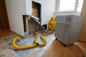 Bautrockner zum Wasserschaden beseitigen