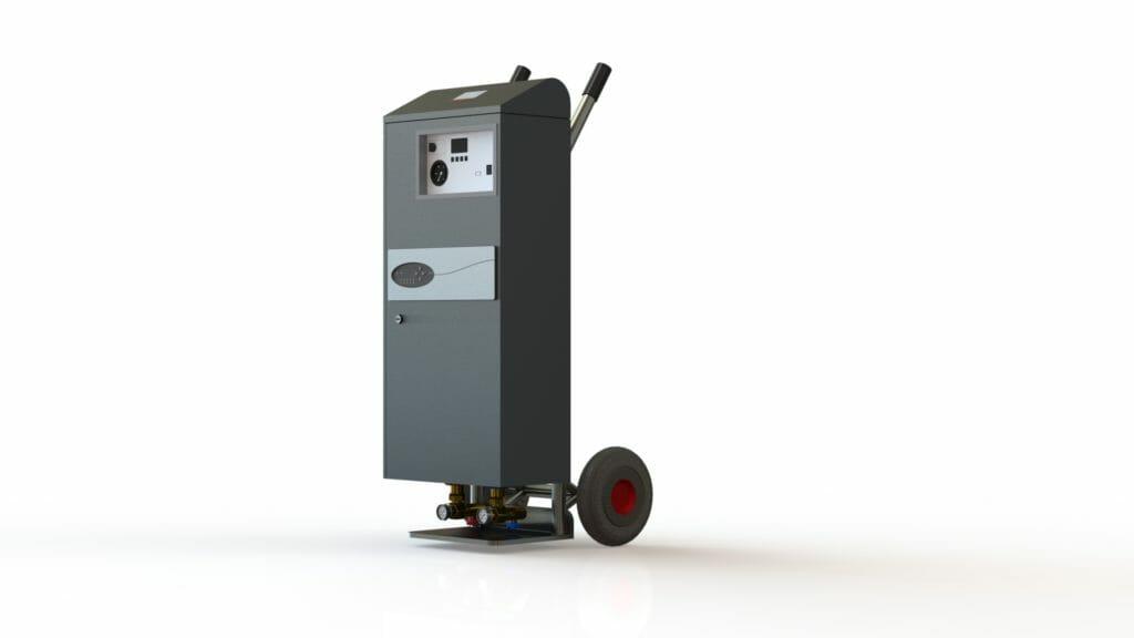 Grafik Mobile Elektroheizung zum mieten 400 V