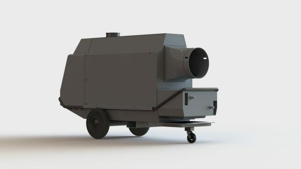 Mobiler Warmlufterzeuger